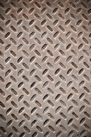 rough diamond: Rusty Diamond Plate that can be used for background
