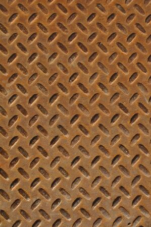Rusty Diamond Plate that can be used for background Stock Photo - 6152249
