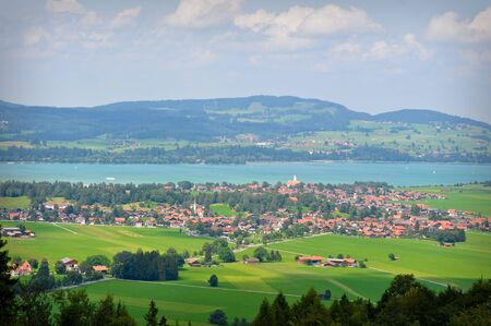 Bavaria Countryside View of green valley photo