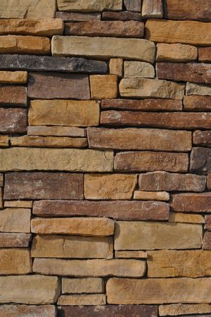 Wall of Multi Colored Stone used as a background Stock Photo - 6331387