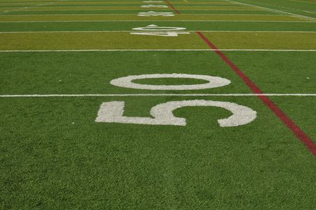 American Football Fifty Yard Line photo