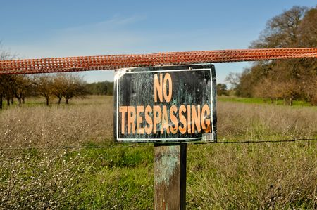 No Trespassing Sign in Rural Area photo