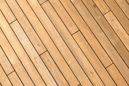 Diagonal Wooden Ship Deck Background with free spac for text Stock Photo - 6371366