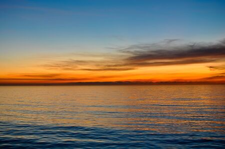 Ocean Background with Sunset in the back Stock Photo - 6371365
