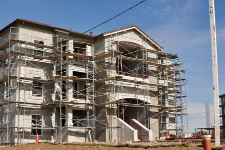 Modern Apartment Complex Under Construction Stock Photo - 6519544