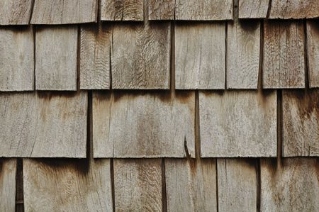 Aged Wooden Shingle Background with Copyspace photo