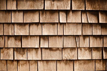 damaged roof: Shingle  Aged Wooden Background with Copyspace