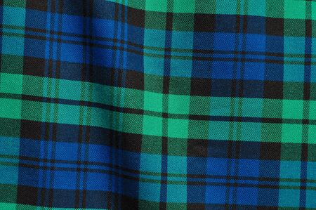 green lines: Scottish Green Blue Plaid Background
