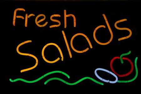 Salad Fresh Neon Sign with Tomato and Onion