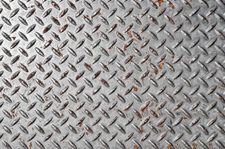 Diamond Plate Silver Background photo