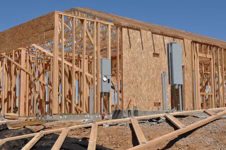 New Home under Construction Frame Stock Photo - 7136404