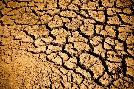 Gebarsten en Arid Ground droog zonder water