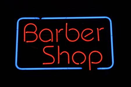 Barber Shop Neon Light Sign Stock Photo - 7253807