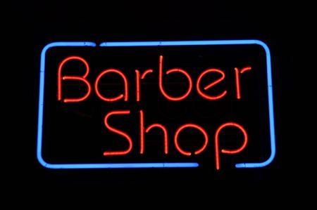 barber shop: Kappers salon Neon Light Sign
