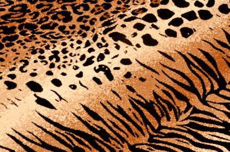 Tiger Cheetah Print Rug Background Stock Photo - 7253864