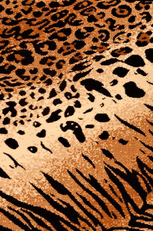 draw animal: Tiger Cheetah Print Rug Background