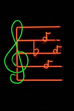 Music Note Neon Light Sign photo