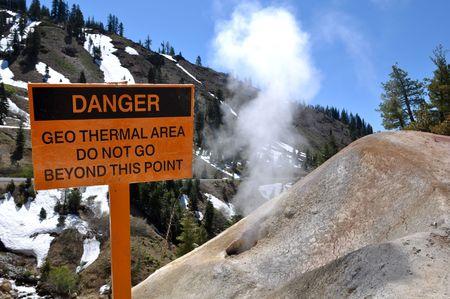 Lassen National Volcanic Park in California Thermal Vent photo