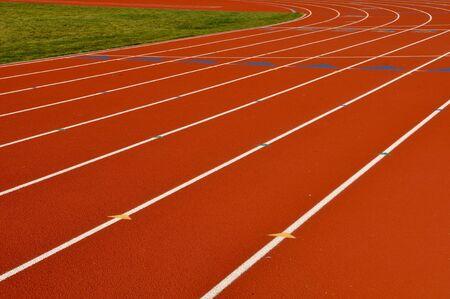 Head Start Red, White Running Track Background photo