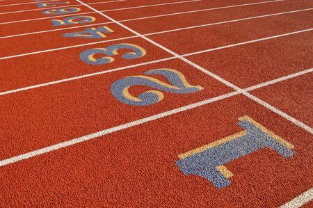 head start: Head Start Red, White Running Track Background