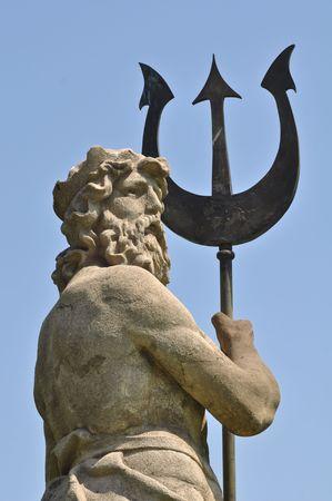 arte greca: Poseidon con Triton da Atlantide in Barcellona Spagna