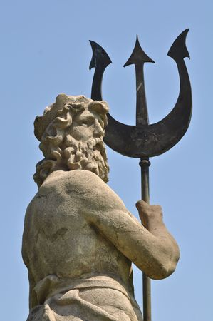 greek gods: Poseidon with Triton from Atlantis in Barcelona Spain