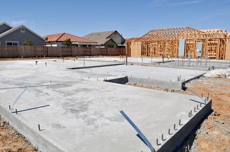 Nieuwe stichting bouw van het huis
