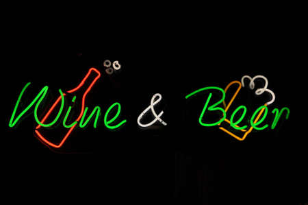 Wine and Beer Neon Sign photo