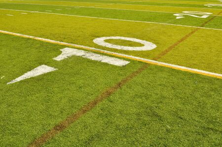 yardline: Football Field Ten 10 Yardline