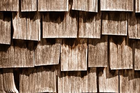 damaged roof: Wood Shingle Background