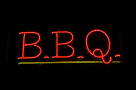 BBQ Barbecue Neon Sign Imagens - 8399608