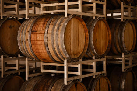Wine Barrels in Cellar Stock Photo - 8399575
