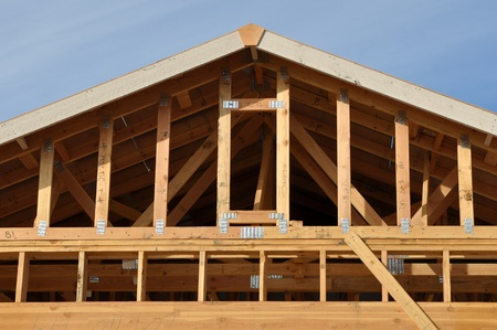 New Home Under Construction Roof Stock Photo - 8492871