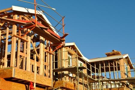 New Residential Homes Under Construction Zdjęcie Seryjne