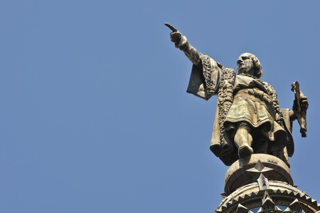 Christopher Columbus Statue in Barcelona, Spain Stock Photo - 8629973