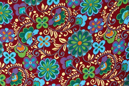 Mayan Floral Pattern Background