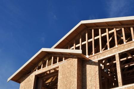 Nieuwe huis in aanbouw Stockfoto