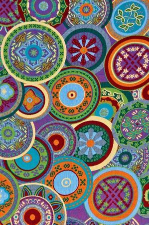 Mayan Circle Pattern Background Archivio Fotografico