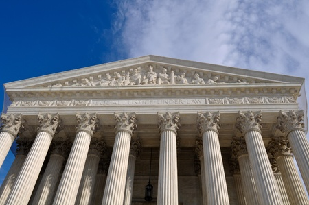 supreme: US Supreme Court Building in Washington DC Stock Photo