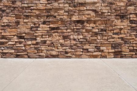 새로운 벽돌 벽 보도 스톡 콘텐츠 - 9508249