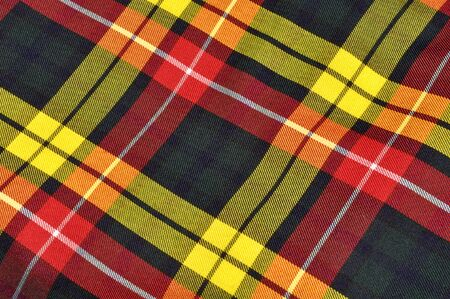 Plaid Scottish Kilt Background Stock Photo - 9508252