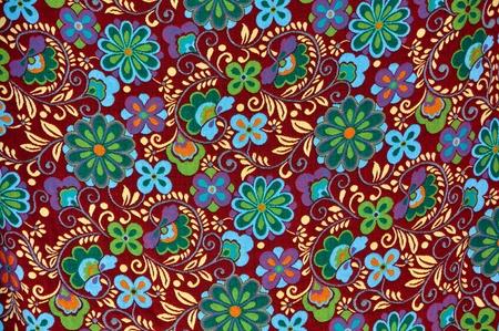 Mayan Floral Pattern Background