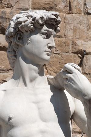 rey medieval: Estatua de David en Florencia Italia Foto de archivo