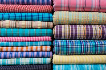 Indian Fabric Textile for Sale at Market photo