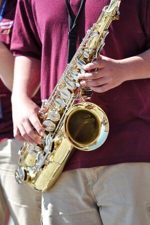 Jazz Festival Sax Player photo