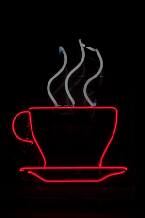 cup: Coffee Cup Neon Sign