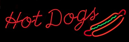 business sign: Hot Dogs Neon Sign