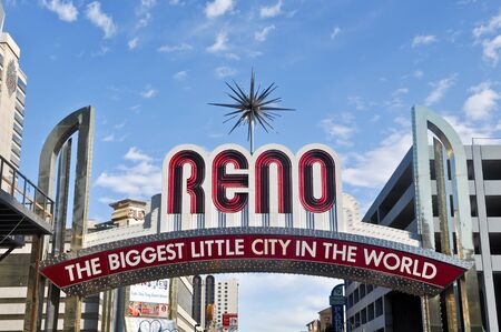 RENO - SEPTEMBER 05 : The original sign was built in 1926 to promote the Nevada Transcontinental Highway Exposition. The sign was last replaced in 1987.