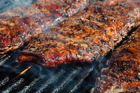 bbq ribs: BBQ Ribs on  Grill