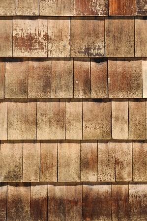 shingles: Las tejas de madera del techo Foto de archivo